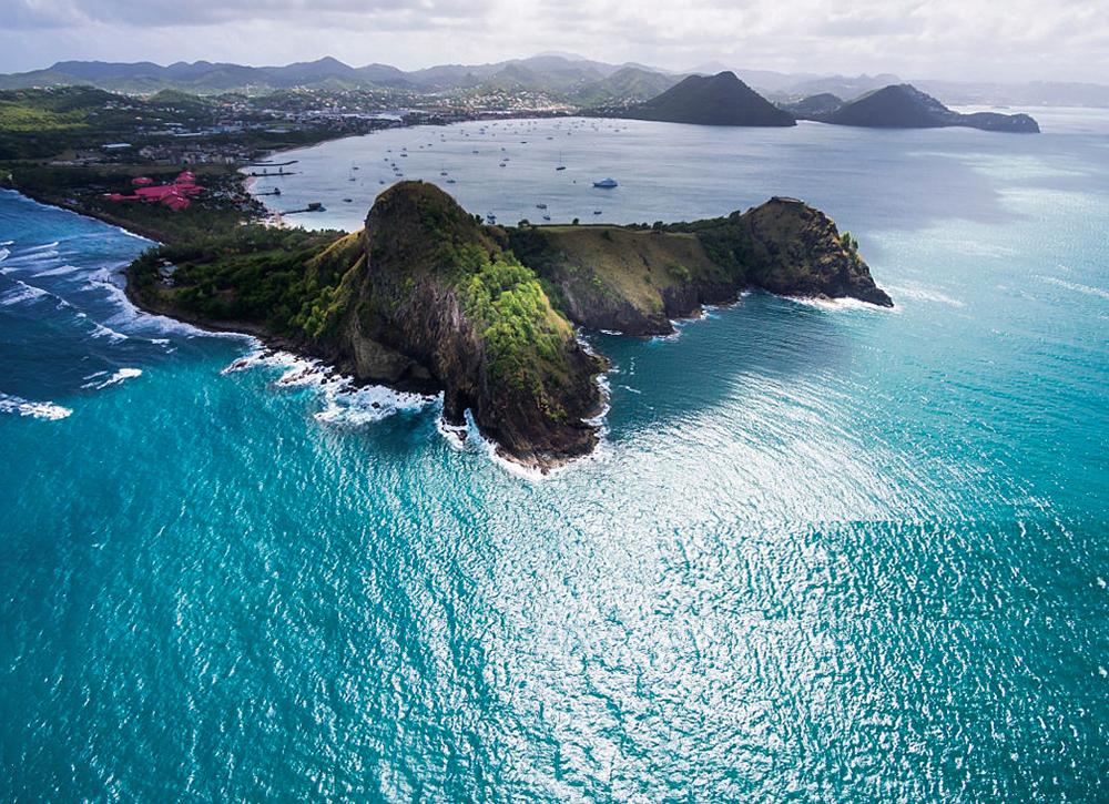 Historic Pigeon Island in Saint Lucia